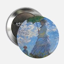 """Woman with a Parasol by Claude Monet 2.25"""" Button"""