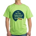 SEPARATION CHURCH HATE Green T-Shirt