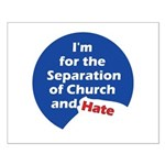 SEPARATION CHURCH HATE Small Poster