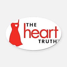 Unique Heart health Oval Car Magnet