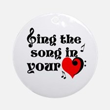 Music Lovers Quote Ornament (Round)