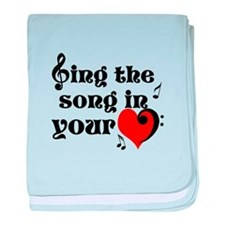 Music Lovers Quote baby blanket