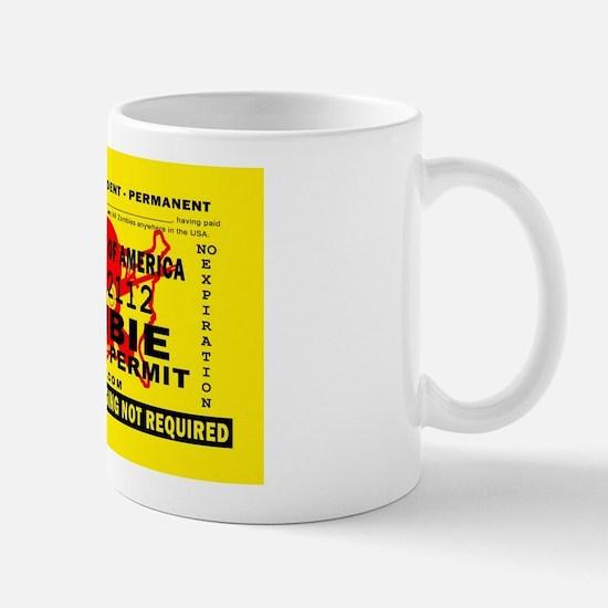 US Zombie Hunting Permit Mug