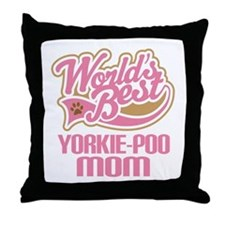 Yorkie-poo Dog Mom Throw Pillow