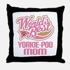 Yorkie-poo Dog Mom Throw Pillow
