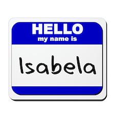 hello my name is isabela  Mousepad