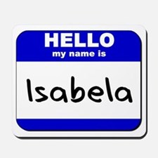 hello my name is isabela  Mousepad