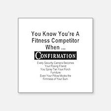 "Fitness Pro Square Sticker 3"" x 3"""