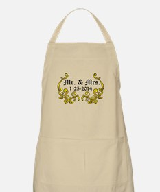 Mr. Mrs. Personalized dates Apron