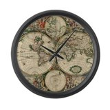 1689 world map Giant Clocks
