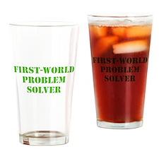 First-World Problem Solver Drinking Glass