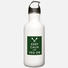 Keep Calm and Veg On Water Bottle