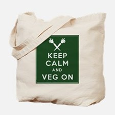 Keep Calm and Veg On Tote Bag