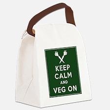 Keep Calm and Veg On Canvas Lunch Bag