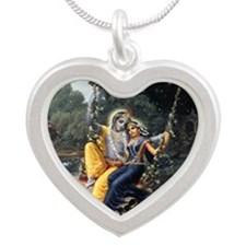 The Divine Couple Silver Heart Necklace