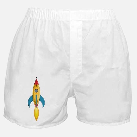 Rocket Ship Boxer Shorts
