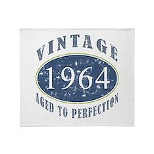 1964 Vintage (Blue) Throw Blanket