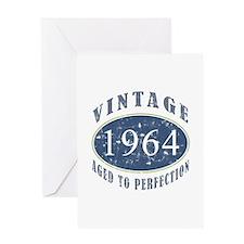 1964 Vintage (Blue) Greeting Card
