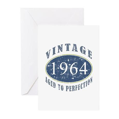 1964 Vintage (Blue) Greeting Cards (Pk of 10)
