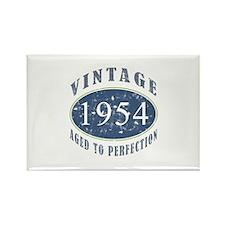 1954 Vintage (Blue) Rectangle Magnet