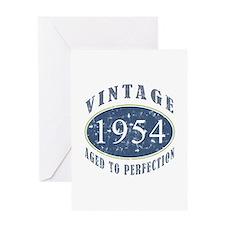 1954 Vintage (Blue) Greeting Card