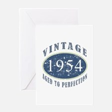 1954 Vintage (Blue) Greeting Card
