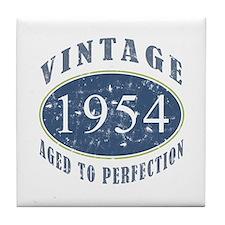 1954 Vintage (Blue) Tile Coaster