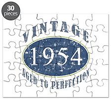 1954 Vintage (Blue) Puzzle