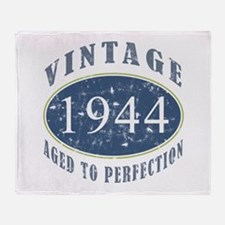 1944 Vintage (Blue) Throw Blanket