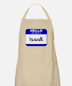 hello my name is isaak  BBQ Apron