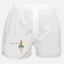 Space Man Rocket Ship Boxer Shorts