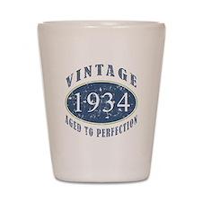 1934 Vintage (Blue) Shot Glass
