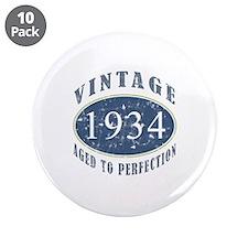 """1934 Vintage (Blue) 3.5"""" Button (10 pack)"""