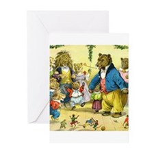 Christmas Dance in Animal Land Greeting Cards (Pk