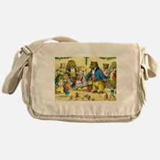 Christmas Dance in Animal Land Messenger Bag