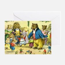 Christmas Dance in Animal Land Greeting Card
