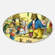 Christmas Dance in Animal Land Decal