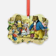 Christmas Dance in Animal Land Ornament