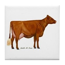 Milking Shorthorn Tile Coaster