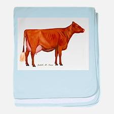 Milking Shorthorn baby blanket