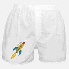 Rocket Man Rocket Ship Boxer Shorts