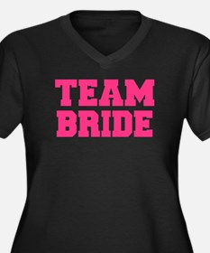 Team Bride Women's Plus Size V-Neck Dark T-Shirt