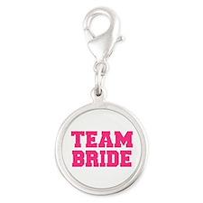 Team Bride Silver Round Charm