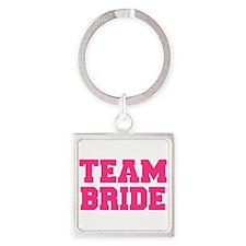 Team Bride Square Keychain