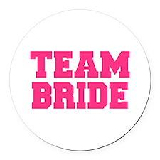 Team Bride Round Car Magnet