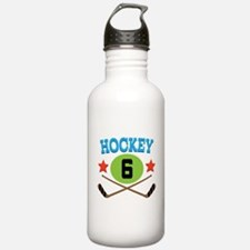 Hockey Player Number 6 Water Bottle
