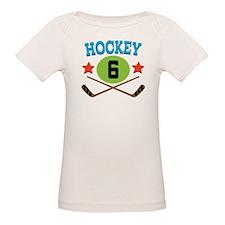 Hockey Player Number 6 Tee