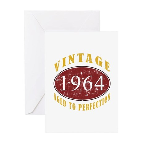 1964 Vintage (Red) Greeting Card