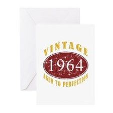 1964 Vintage (Red) Greeting Cards (Pk of 10)