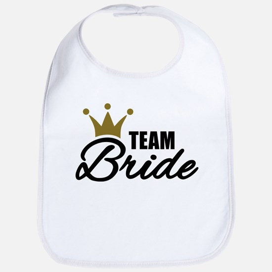 Team Bride crown Bib